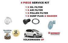 Per VOLKSWAGEN VW UP 1.0 2012 - > NUOVO Aria Olio Filtro Antipolline + SPINA fondo kit di servizio