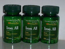 IRON ALL PLUS LIVER, B-COMPLEX, VITAMIN C, THIAMIN PABA SUPPLEMENT 300 TABLETS