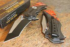 TAC-FORCE Spring Assisted Modified Tanto ORANGE EMT Rescue Glass Breaker Knife!!