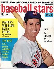 1954 Dell Baseball Stars magazine, Ted Williams, Boston Red Sox ~ Good