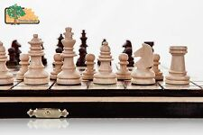 Mini travel - 22cm /  Handcrafted Wooden Chess Set