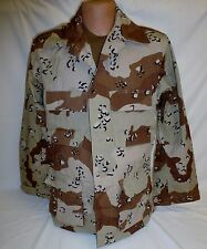 Desert Storm 6 Color Chocolate Chip BDU Shirt Large Regular 50/50  New DCU
