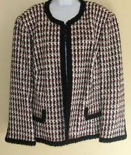 NEW Dana Buchman Black Red White Tweed Luxury Jacket Blazer Sz 20 $665