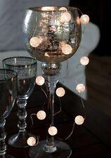 sfera LED Luci a catena Marmo Palle Palla Batteria con Timer 15tlg