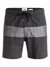"Quiksilver Dual Oceans 17"" Black Walkshorts Shorts Sz Medium"