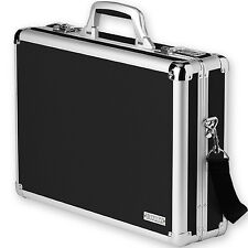 Black Laptop Brief Case Locking Combination Lock Secure Storage Organizer B