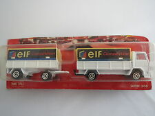 "RAR: Majorette No. 241-245 Ford Sattelzug ""elf compétition"" , weiß, 1:100, TOP !"