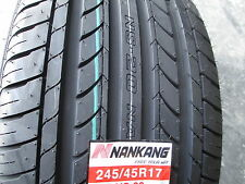 2 New 245/45R17 Inch Nankang NS-20 Tires 245 45 17 R17 2454517 45R