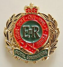 ROYAL CORPS OF ENGINEERS CLASSIC HAND MADE IN UK  PLATED LAPEL PIN BADGE