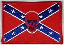 Rebel skull patch. Flag. Skull.