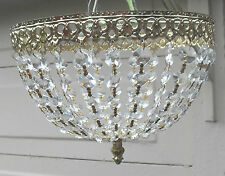VINTAGE FRENCH STYLE CRYSTAL BAG CHANDELIER CEILING LIGHT