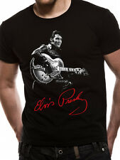 Elvis Presley Signature T-Shirt Licensed Top Black L