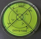 Large Spirit Bubble Degree Mark Surface Level Round, Circular Caravan Bulls Eye