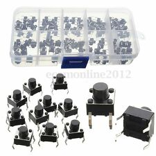 KIT 100PCS 6*6mm 4 Pin ON-OFF INTERRUTTORE PULSANTE NORMALMENTE CHIUSO 50mA