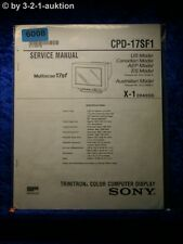Sony Service Manual CPD 17SF1 Computer Display (#6008)