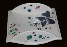"""Handcrafted Butterfly ceramic Small Tray Signed """" Facciolini"""" Castelli, Italy"""