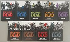 The Walking Dead vol 1-9 Hardcover Graphic Novel Book Lot - Image Comics