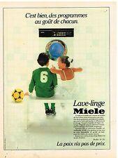 Publicité Advertising 1984 Machine à laver lave linge Miele