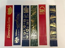 SIX LEATHER BOOKMARKS
