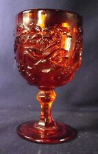 Lg Wright Wild Rose pattern wine glass goblet ruby red glass Q