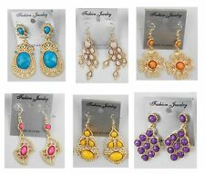 Fashion jewelry lots 10 pairs Mixed Style Drop/Dangle Earrings wholesale #A-7