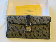 Dooney and Bourke wallet checkbook ID womens D & B navy WU53Q WB 49543778 EUC