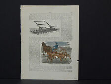 American Farmer, Barn, Farm Equipment c.1880 #35 Bullard's Hay Tedder