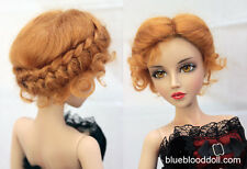 "1/4 1/3 bjd 7-8"" doll head copper red real mohair vintage wig dollfie iplehouse"