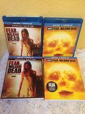 FEAR THE WALKING DEAD SEASON 1 & 2 BLU-RAY AMC ZOMBIE TV SERIES (NO DIGITAL)