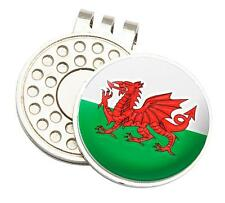 WALES TOUR GOLF CAP/VISOR CLIP AND BALL MARKER