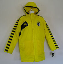 nw~Adidas COLUMBUS CREW STADIUM Jacket 2in1 PADDED-Jersey Track Hoody Top~Sz 2XL