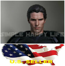1/6 Christian Bale Head 5.0 Bruce Wayne Batman for Hot Toys figure ❶US SELLER❶