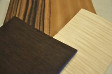 """Curly Maple, Wenge, Sapele & 2 other Wood Veneer - 10, 5""""x8"""" sheets each    IC31"""