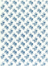 Decoupage-,Ricepaper, Scrapbooking Sheet/Craft Paper Country Blue Roses S