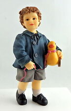 Dolls House Miniature 1:12 Scale People Resin Victorian Figure Little Boy & Toy