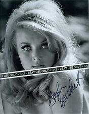 BARBARA BOUCHET NICE!! SIGNED B&W 8x10 PHOTO