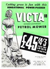 "Victa Rotomo Lightweight 18"" Mower Metal Reprod Sign 460"