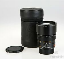 LEICA APO-SUMMICRON-M 1:2/90MM ASPH. BLACK S/N 3856687 IN LEATHER CASE