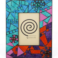 """NEW Handmade Abstract Mosaic Glass Photo Picture Frame 6 x 4"""""""