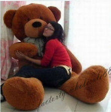 "78in.""brown"" Large personalised Teddy Bears Plush  SOFT Soft 200cm GIFT+EMS SHIP"