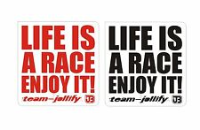 Life is a race, enjoy it JOllify ® Sticker Aufkleber Set Auto Motorrad MTB BIKE
