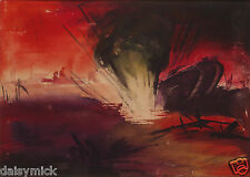 "British Army Artillery Shell Bombardment Battle of The Somme 1918 11x8"" Print"