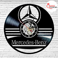 Mercedes Benz car AMG logo vinyl record wall clock gift home decor room art USA