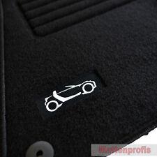 Velours Logo Fußmatten Autoteppiche für Smart Roadster Cabrio ab Bj.2003 - 2006