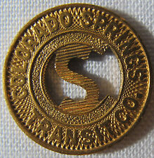 OLD VINTAGE Colorado Springs Letter S Transit Token whotoldya Lot SP812