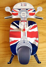 Scooter Clock, Mod Union Jack Scooter Wall Clock, LI TV SX GP Scooter Clock