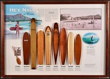 HE'E NALU AT WAIKIKI Vintage Model Surfboard Collection MALCOLM WILSON Surf Art