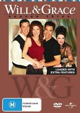 Will & Grace : Season 3 [4 DVD Set], Region 4, Next Day Postage...5529