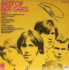 Barry Gibb Bee Gees Best of Autographed Record Album LP PSA/DNA COA