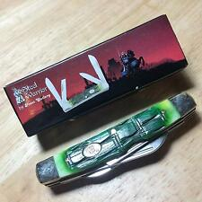 "Frost Steel Warrior Green Bone Croc Congress 3 5/8"" Pocket Knife SW118CROCG"